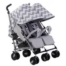 My Babiie MB22 Billie Faiers Twin Chevron Stroller - Grey