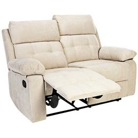 Argos Home June 2 Seater Fabric Recliner Sofa - Natural