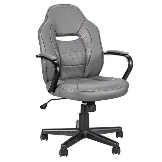 Buy Argos Home Faux Leather Gaming Chair Grey Gaming Chairs Argos