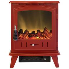 Adam Aviemore 2kW Electric Stove - Red