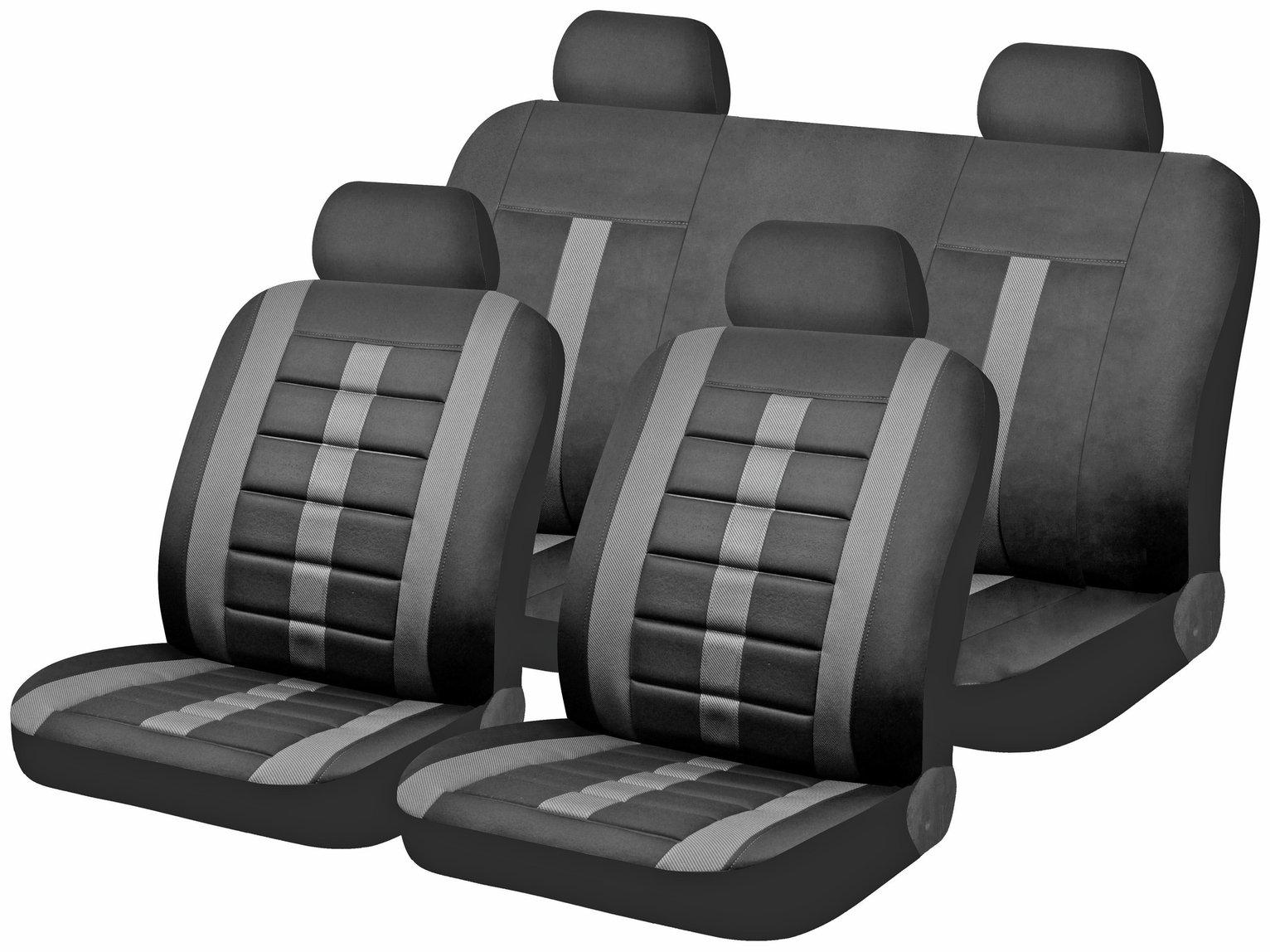 Delightful Lumbar Foam Support Car Seat Covers   Black