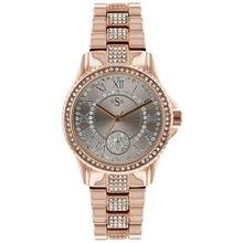 Spirit Lux Ladies' Rose Gold Colour Stone Set Bracelet Watch