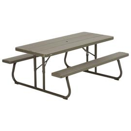 Lifetime Rectangular 6 Person Picnic Table - Brown