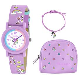 Tikkers Lilac Unicorn Watch, Necklace and Purse Set Best Price and Cheapest