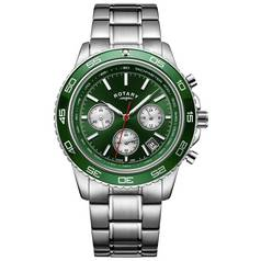 Rotary Men's Chronograph Green Dial Bracelet Watch