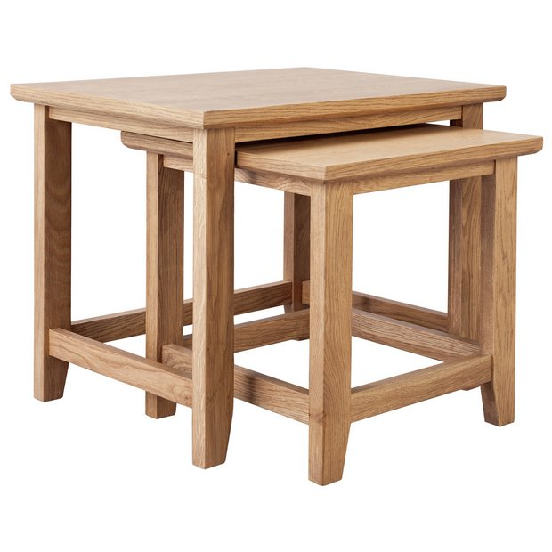 Peachy Buy Argos Home Islington Nest Of 2 Oak Veneer Tables Nest Of Tables Argos Ibusinesslaw Wood Chair Design Ideas Ibusinesslaworg