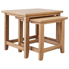 Argos Home Islington Nest of 2 Oak Veneer Tables