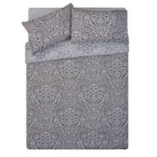 HOME Grey Lace Damask Bedding Set - Kingsize