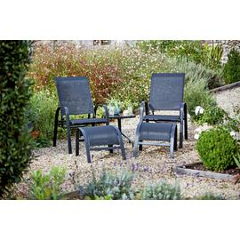 Argos Home Sicily 2 Seater Metal Lounger Set with Footrests