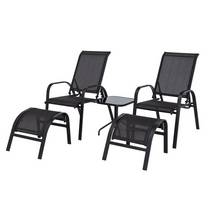HOME Sicily 2 Seater Metal Bistro Set with Footrests