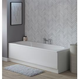 Lavari Straight Cascade Double Ended Bath Tub - White