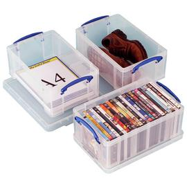 Really Useful 9 Litre A4 Plastic Storage Boxes - Set of 3