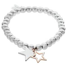 8deed3cb8 australia amelia grace silver colour cut out star charm bracelet c7085 b0d2c