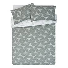 HOME Tribe Grey Geo Bedding Set - Kingsize