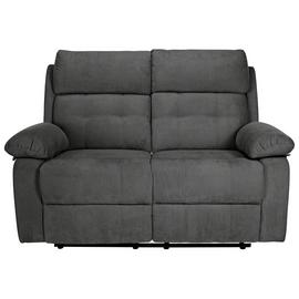 Argos Home June 2 Seater Fabric Recliner Sofa - Charcoal