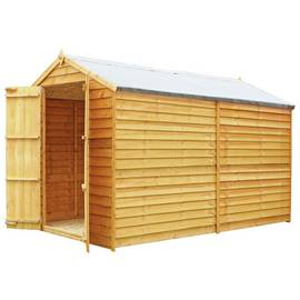 Mercia Wooden 10 x 6ft Overlap Windowless Shed