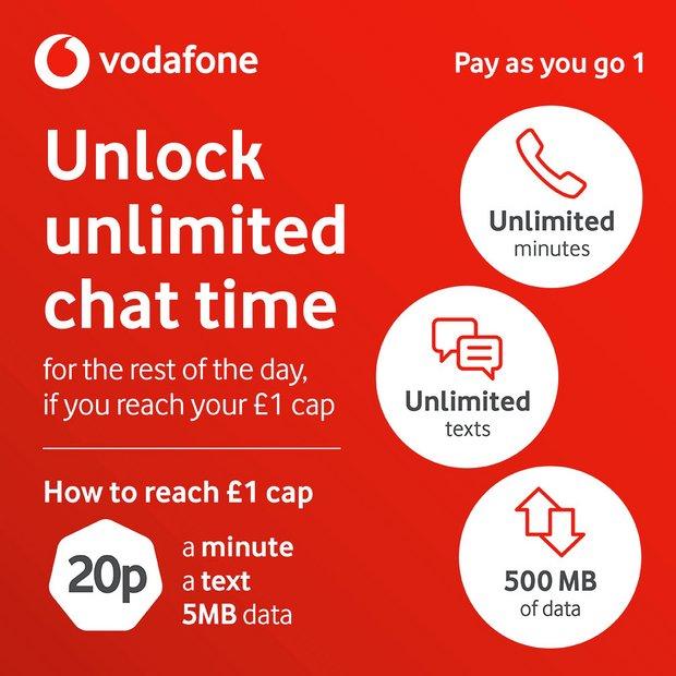 Buy Vodafone Pay As You Go 1 SIM Card | Mobile phone SIM cards | Argos
