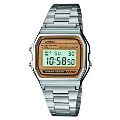 Casio Men's Stainless Steel Bracelet LCD Display Watch