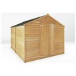 more details on Mercia Wooden 10 x 8ft Overlap Windowless Shed