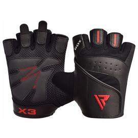 RDX Medium/Large Bodybuilding Gloves - Black