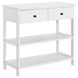 Argos Home 2 Drawer Console Table - White