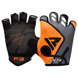 RDX Medium/Large Training Gym Gloves - Orange