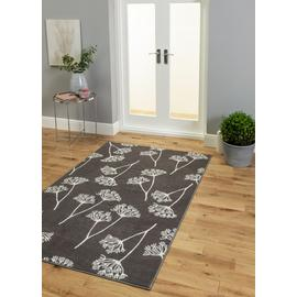 Argos Home Cow Parsley Rug - 120x170cm - Charcoal