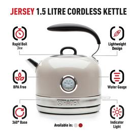 Haden 188830 Retro Jersey Kettle - Putty