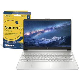 HP Slim 15.6in i3 4GB 128GB FHD Laptop & Norton 360