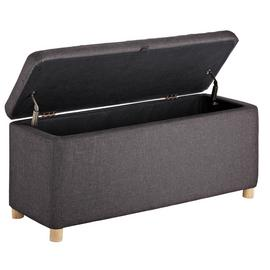 Argos Home Large Fabric Ottoman - Grey