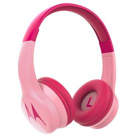 Motorola Squads 300 Wireless On-Ear Kids Headphones - Pink