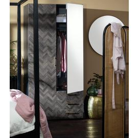 Argos Home Hallingford 2 Door Wardrobe - Parquet Effect
