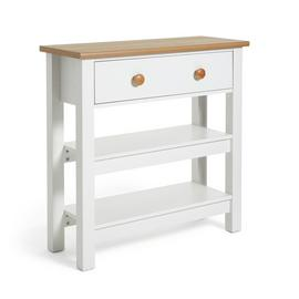 Habitat Winchester Console Table - Cream Two Tone