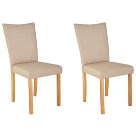 Argos Home Tabitha Pair of Wing Back Chairs - Natural