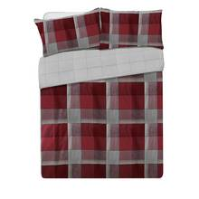 Collection Louis Red Brushed Cotton Bedding Set - Double