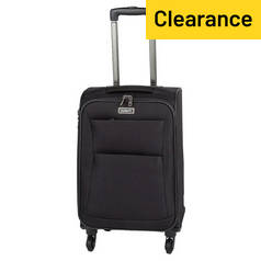 Antler Tourlite Soft 4 Wheel Small Suitcase - Black