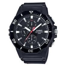Casio Men's Black Resin Strap Rotating Bezel Watch