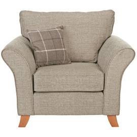 Argos Home Kayla Fabric Armchair - Beige