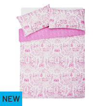 HOME Pink Paisley Bedding Set - Double