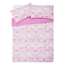 Argos Home Pink Paisley Bedding Set - Double