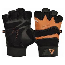 RDX Large/Extra Large Leather Weight Lifting Gloves