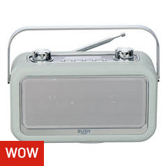 Bush Classic Leather DAB Radio - Grey