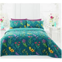 Dreams N Drapes Ingrid Teal Duvet Cover Set - Single