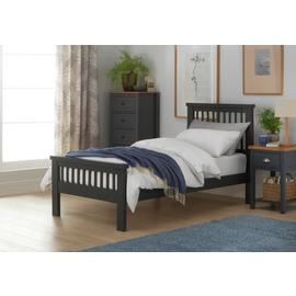 Argos Home Aubrey Single Bed Frame - Charcoal
