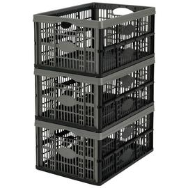 Argos Home 32 Litre Plastic Folding Storage Crates- Set of 3