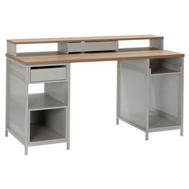 Argos Home Modular 1 Drawer Gaming Desk - Oak Effect & Grey