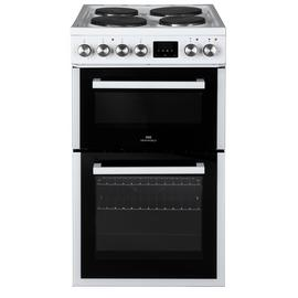 New World NWLS50DEW Double Oven Electric Cooker - White Best Price, Cheapest Prices