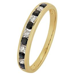 Revere 9ct Gold Sapphire & Diamond Channel Eternity Ring