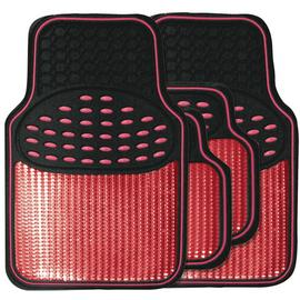 Streetwize Heavy Duty Car Mat Set - Red.