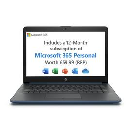 HP 14in AMD A4 4GB 64GB Cloudbook - Blue